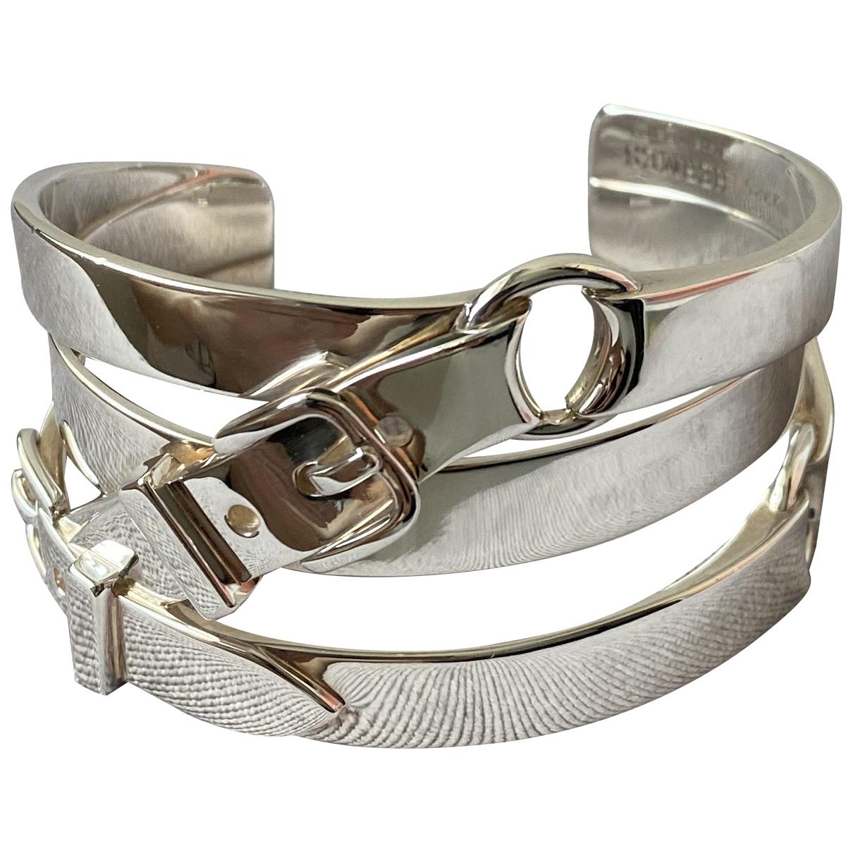 Hermes \N Armband in  Silber Silber