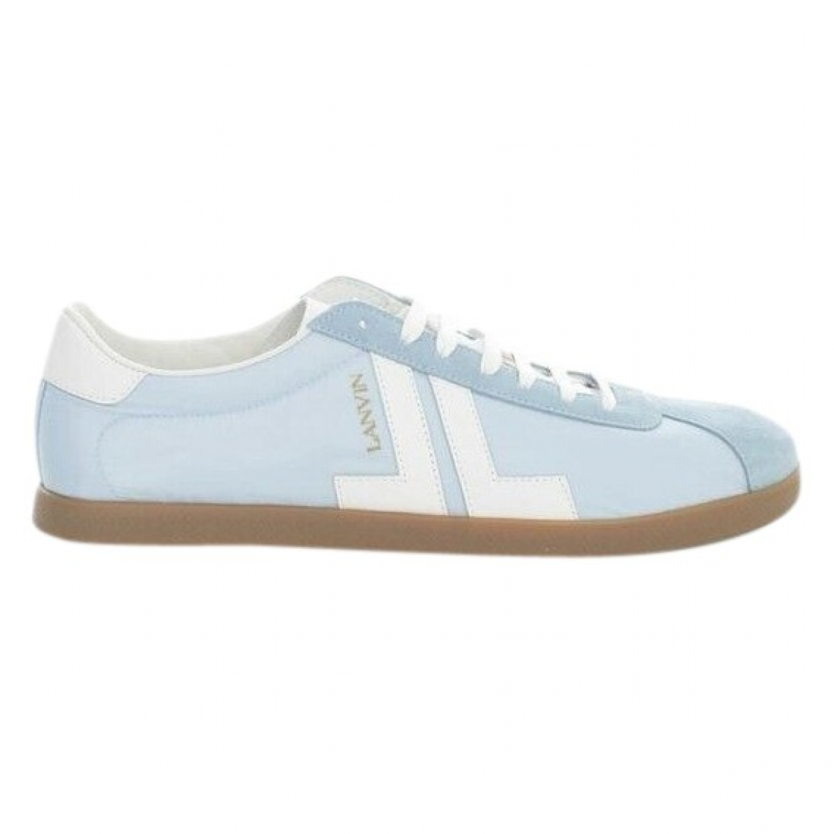 Lanvin \N Blue Leather Trainers for Men 39 EU