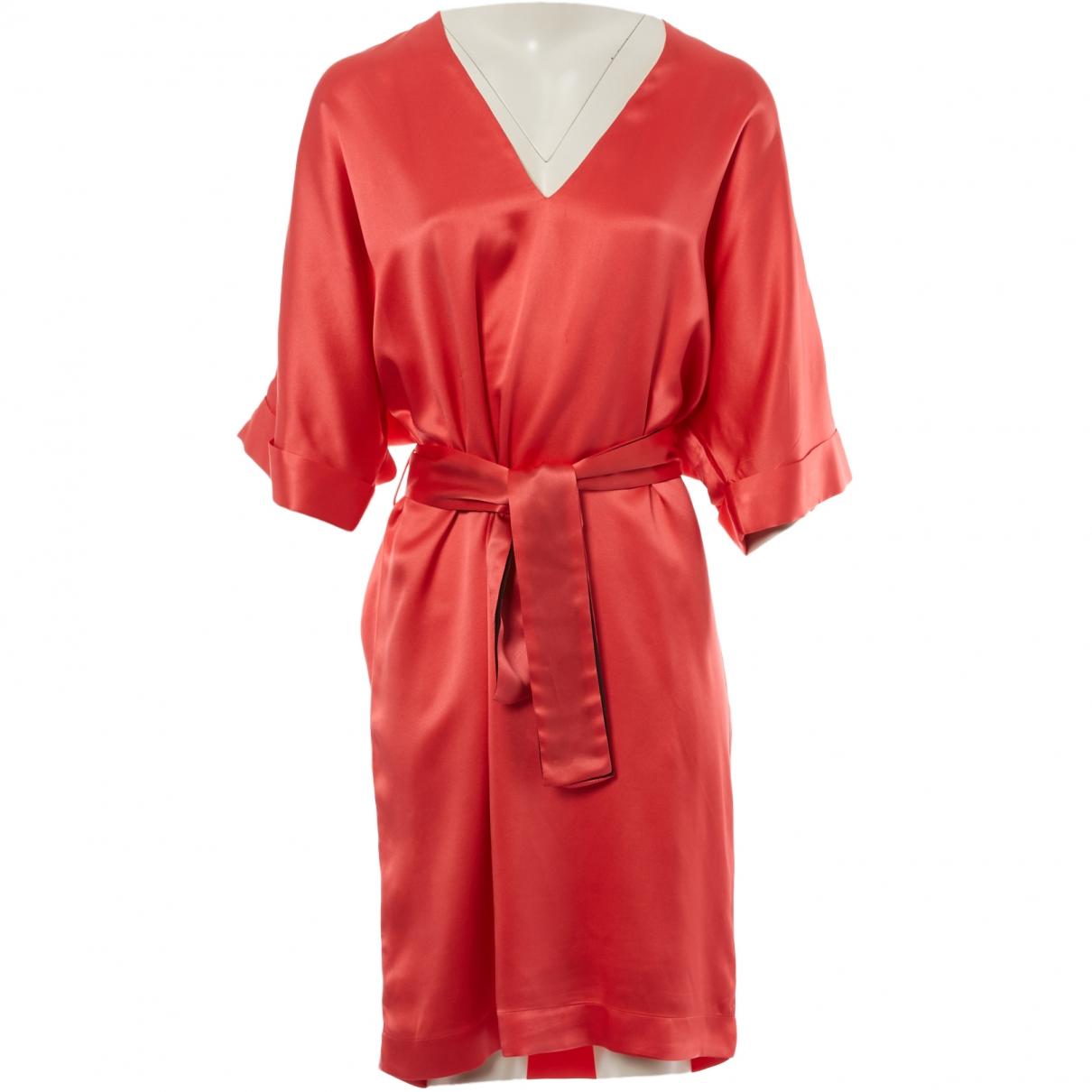 Fendi \N Pink Silk dress for Women 42 IT