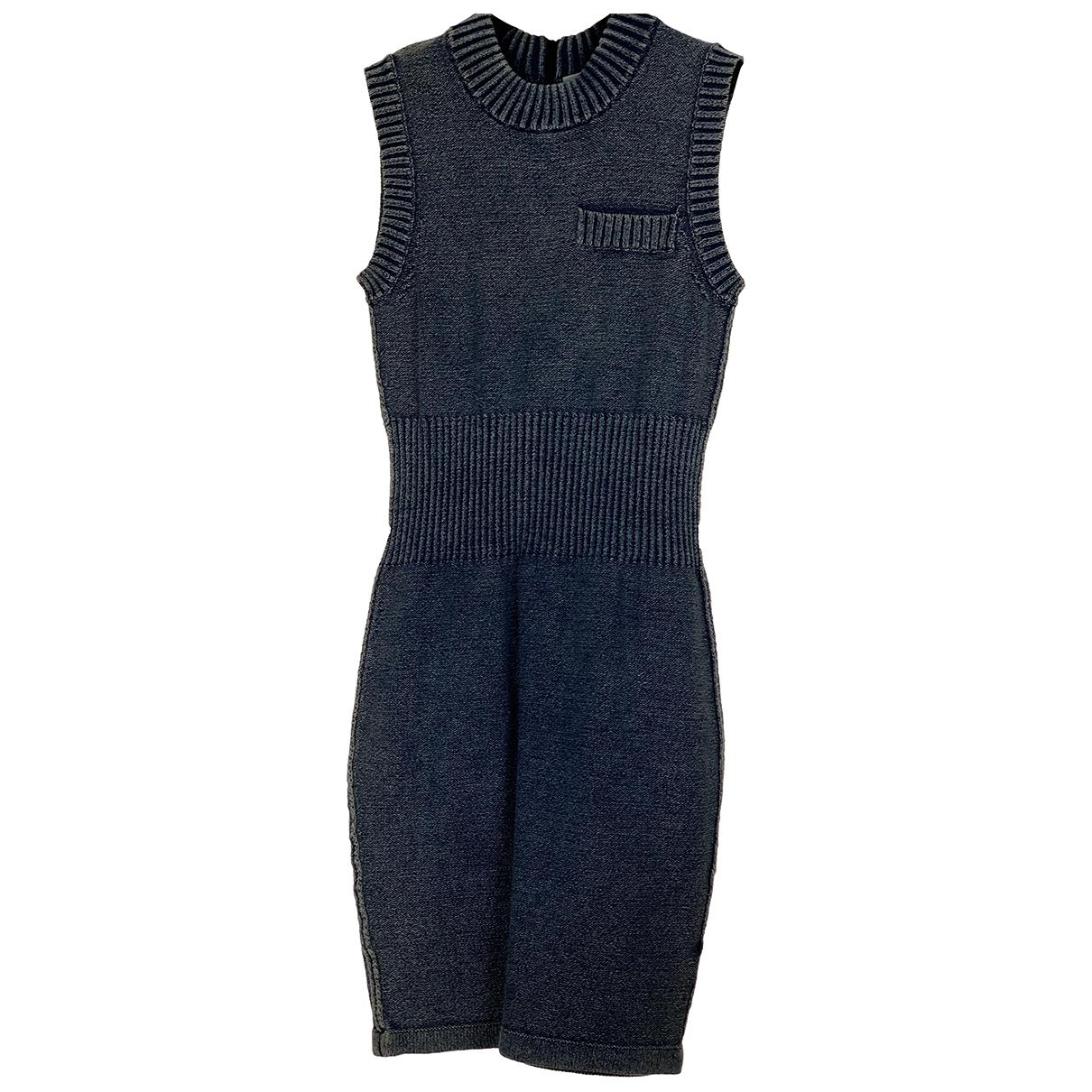 T By Alexander Wang \N Kleid in  Blau Baumwolle - Elasthan
