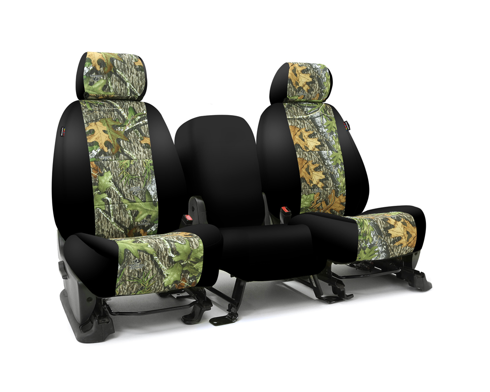 Coverking CSC2MO04FD9643 Skanda Custom Seat Covers 1 Row Neosupreme Mossy Oak Obsession with Black Sides Rear Ford F-150 2013-2014