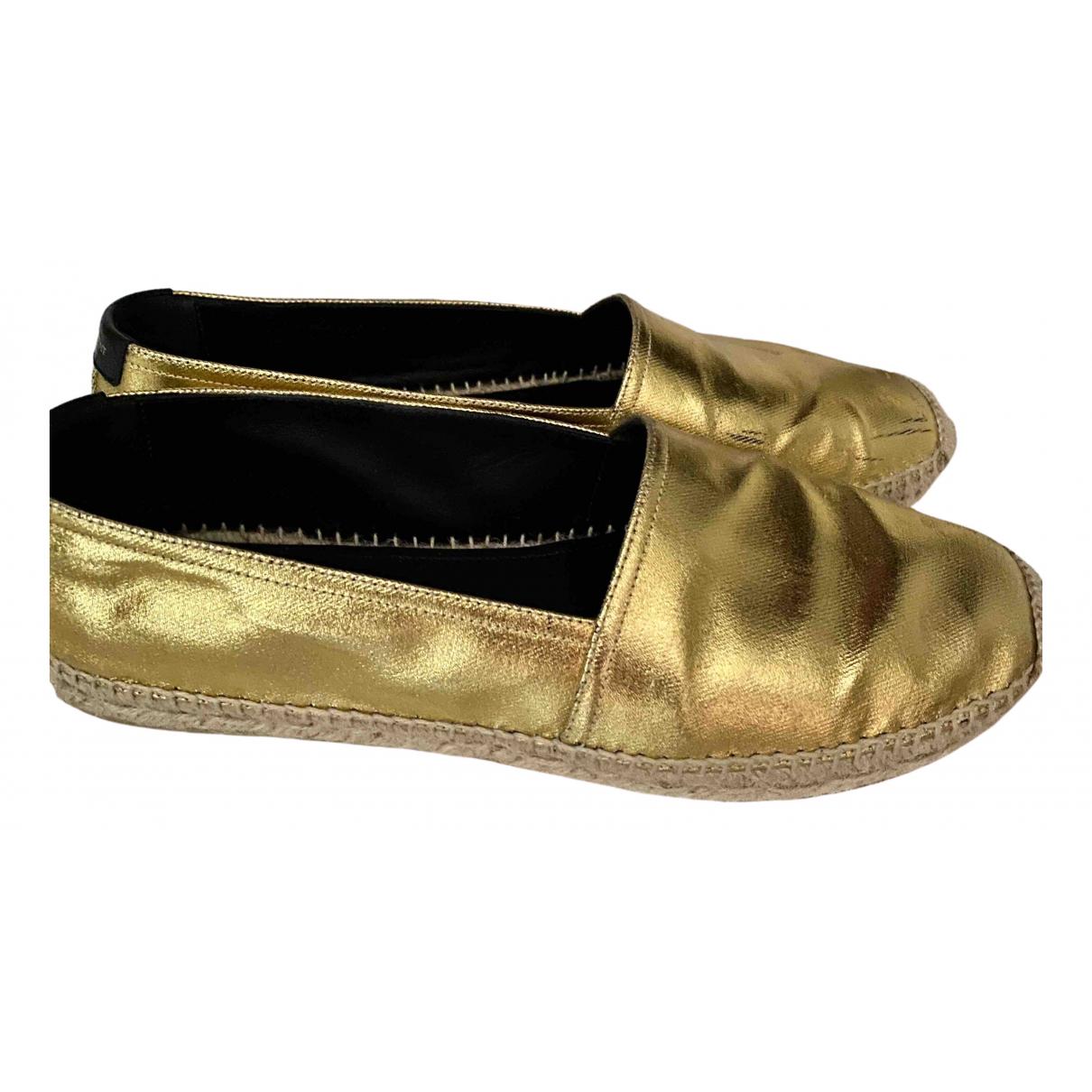 Saint Laurent \N Espadrilles in  Gold Leder