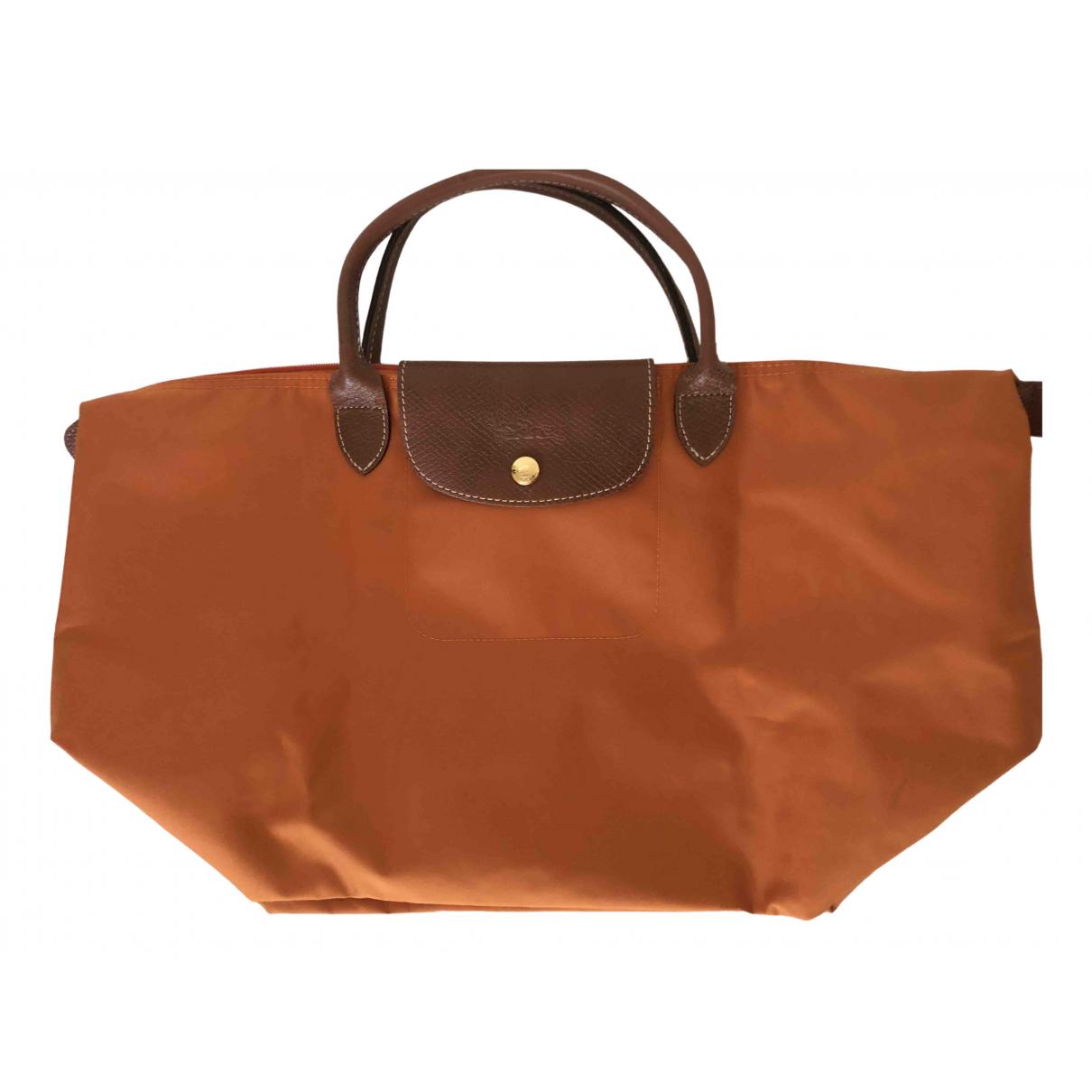 Longchamp - Sac a main Pliage  pour femme en toile - orange
