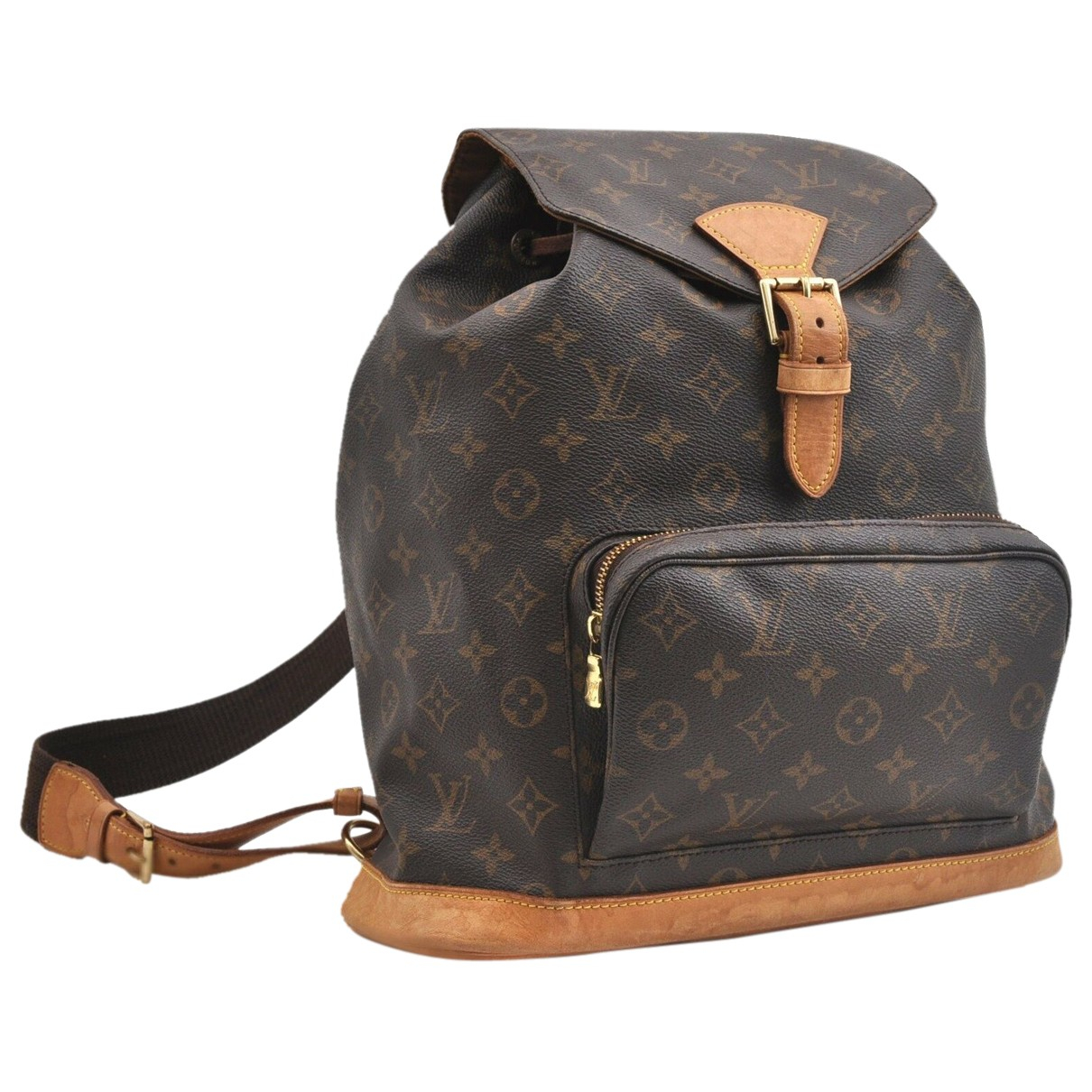 Louis Vuitton \N Rucksaecke in  Braun Leinen