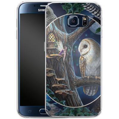 Samsung Galaxy S6 Silikon Handyhuelle - Owl Montage von Lisa Parker