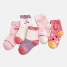 5pairs Baby Fruit Pattern Socks