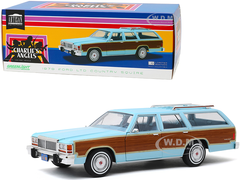 1979 Ford LTD Country Squire Light Blue with Wood Grain Paneling