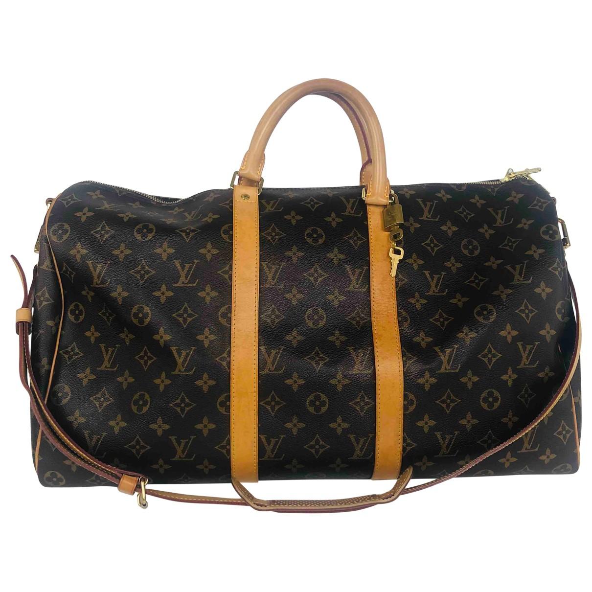 Louis Vuitton Keepall Brown Cloth bag for Men \N