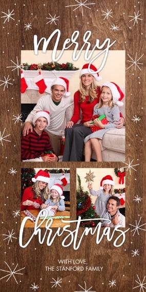 Christmas Photo Cards 4x8 Flat Card Set, 85lb, Card & Stationery -Christmas Sparkling Stars by Tumbalina