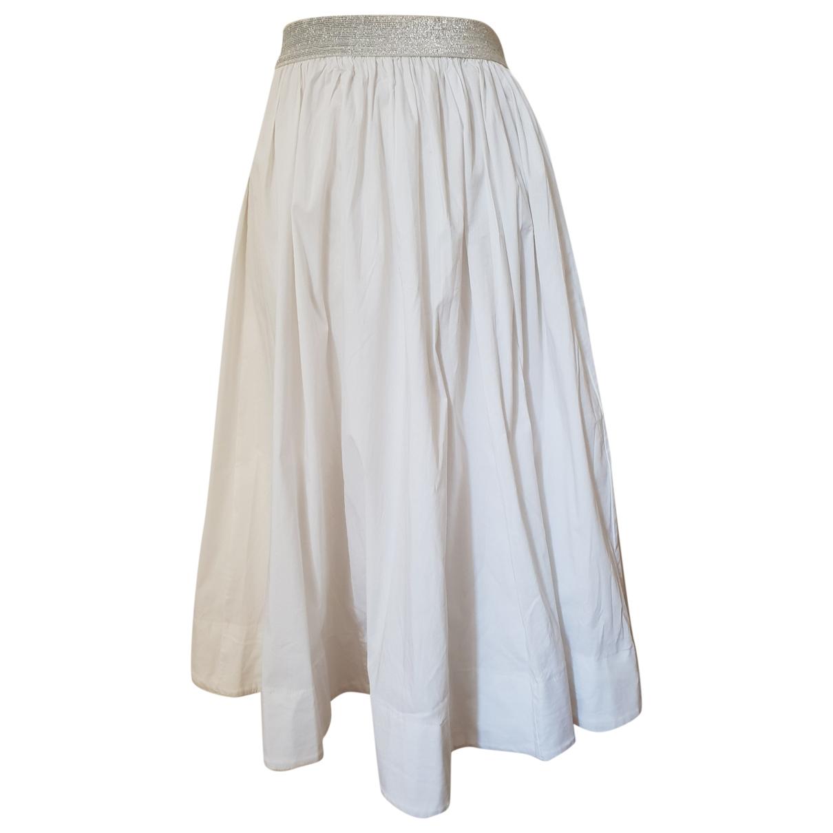 Imperial - Jupe   pour femme en coton - elasthane - blanc