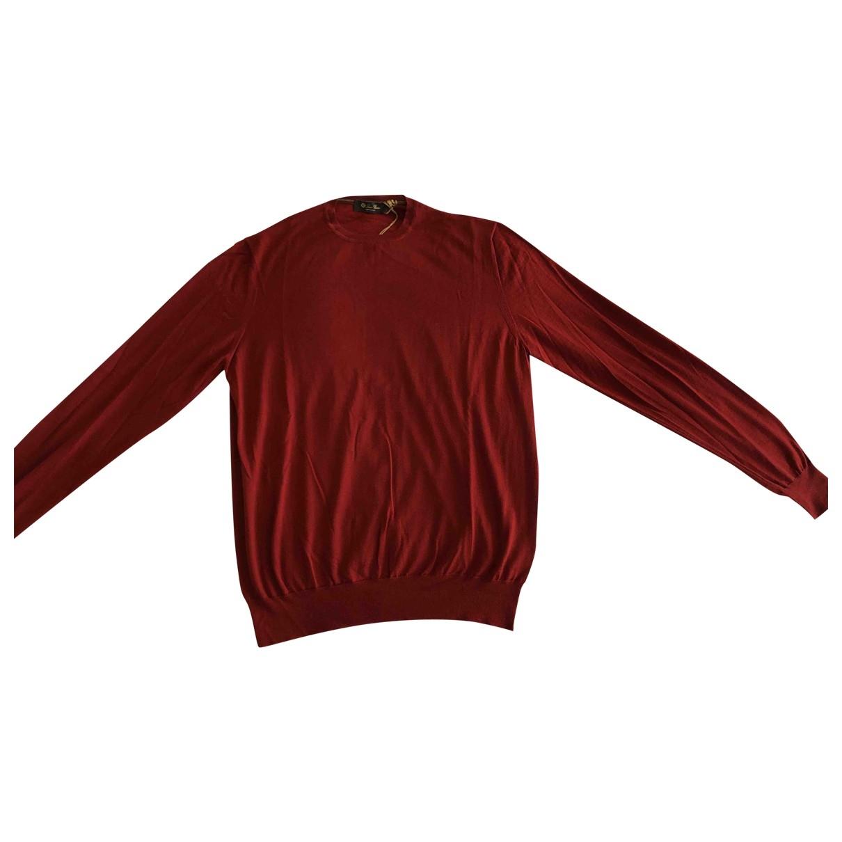 Loro Piana \N Pullover.Westen.Sweatshirts  in  Orange Kaschmir