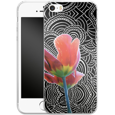 Apple iPhone SE Silikon Handyhuelle - Tulips von Kaitlyn Parker