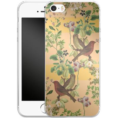 Apple iPhone SE Silikon Handyhuelle - Vintage Botanic von Zala Farah
