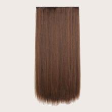 5 Stuecke Clip in gerades Haarteil