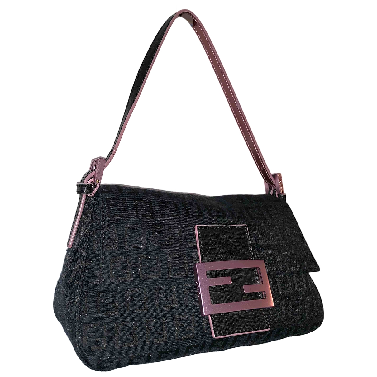 Fendi Baguette Black Cloth handbag for Women \N