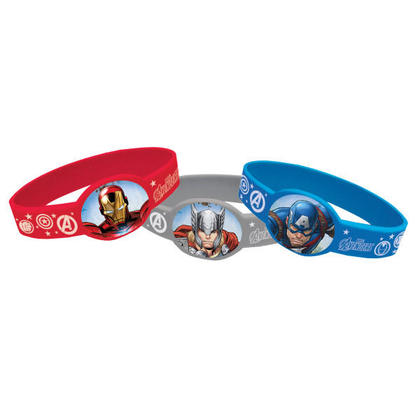 Avengers 4 Stretchy Bracelets For Birthday Party