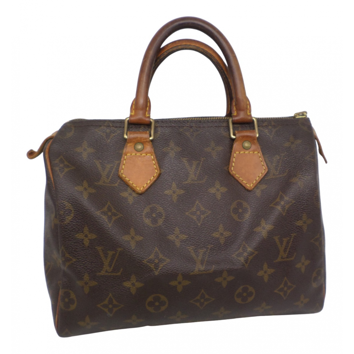 Louis Vuitton Speedy Handtasche in  Braun Leinen