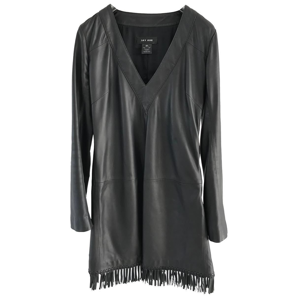 Jay Ahr \N Black Leather dress for Women M International