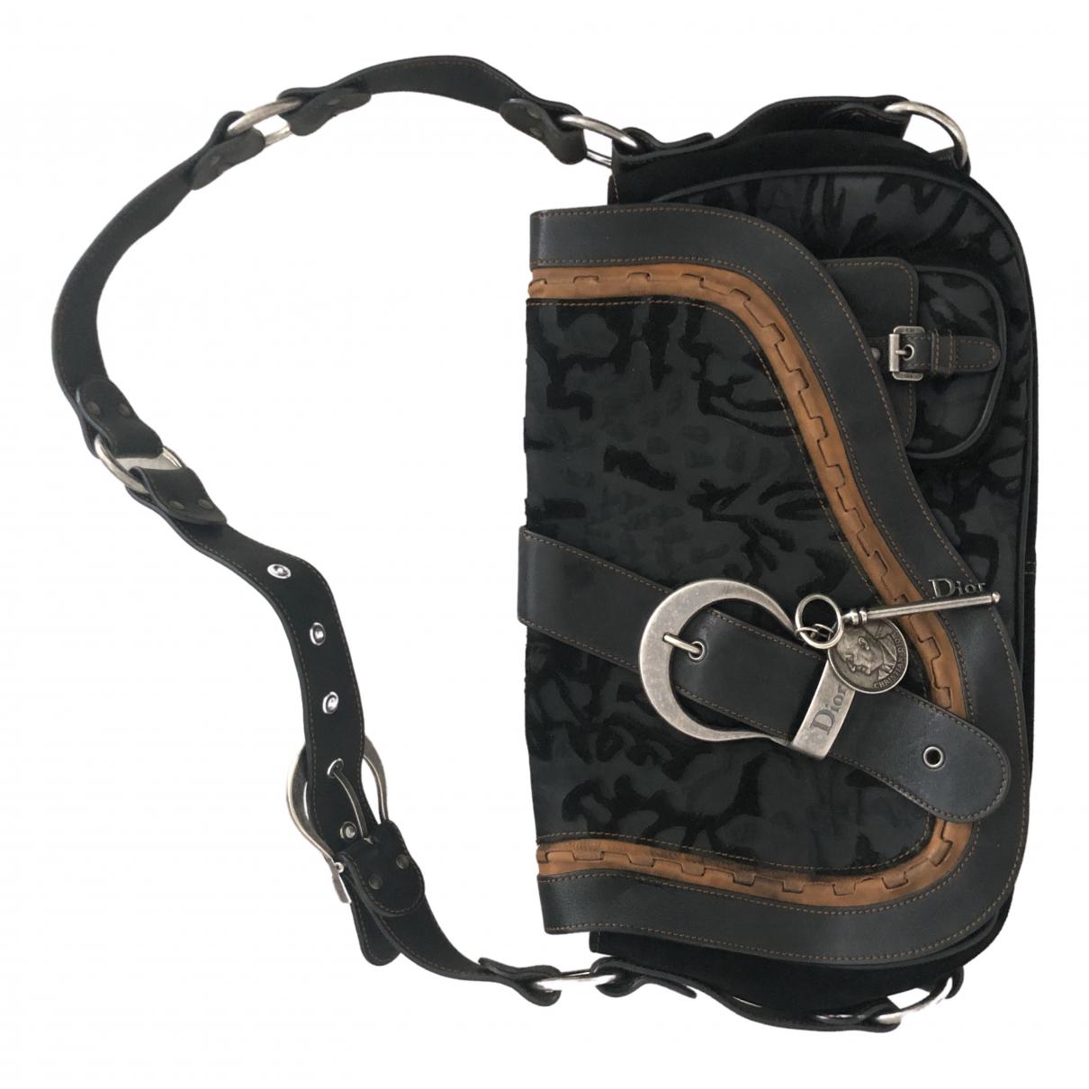 Dior Gaucho Black Leather handbag for Women \N