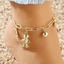 Girls Bear Charm Anklet