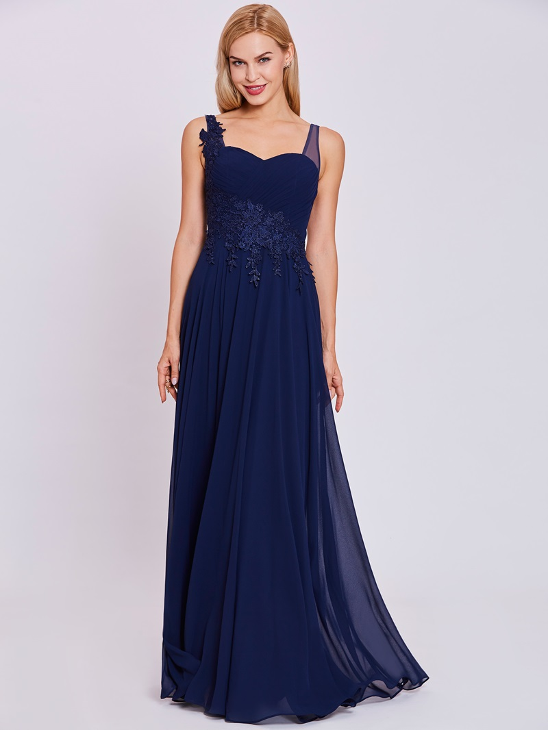 Ericdress Straps Zipper-Up A Line Evening Dress