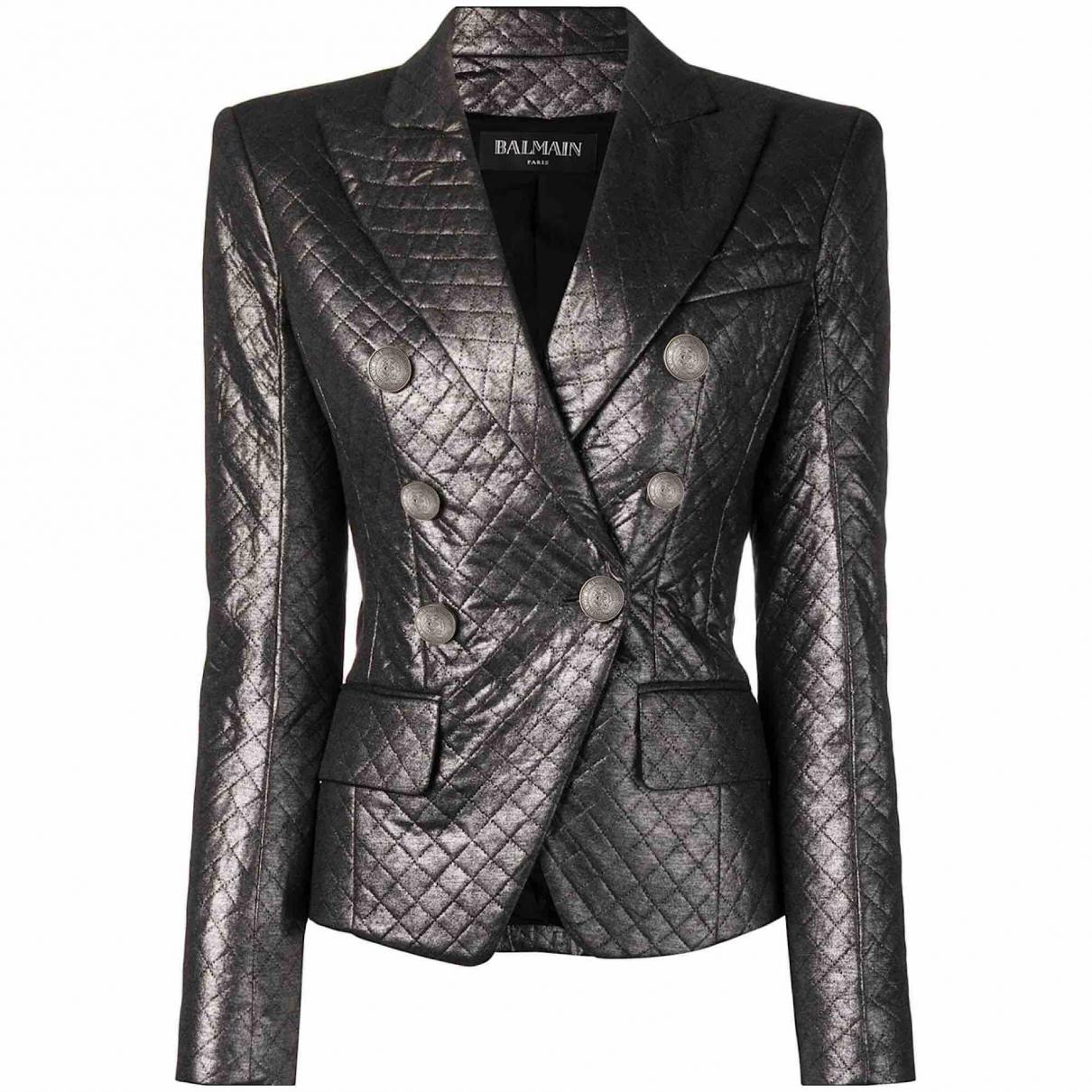 Balmain N Metallic jacket for Women 38 FR