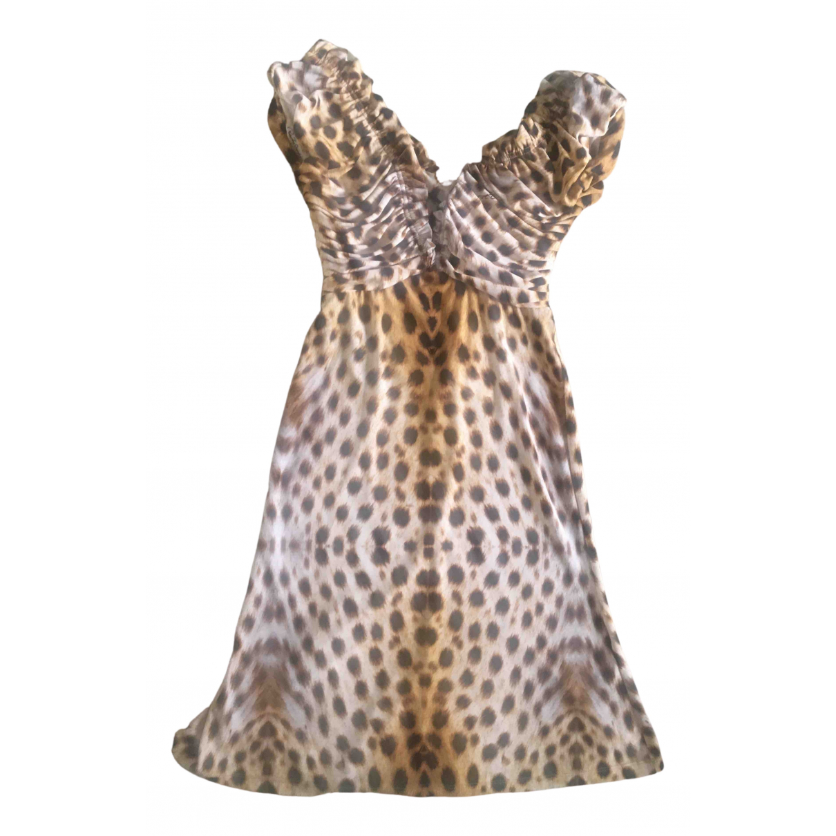 Roberto Cavalli \N Kleid in  Braun Synthetik