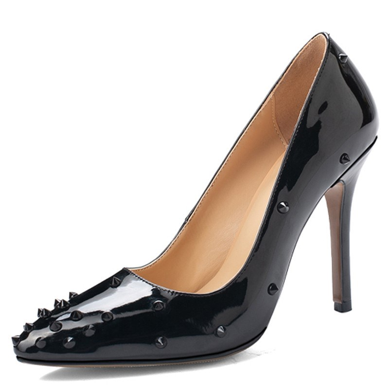 Ericdress Pointed Toe Rivet Sexy Stiletto Heel Pumps