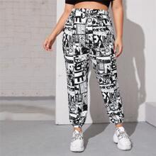 Hose mit Pop Art Muster