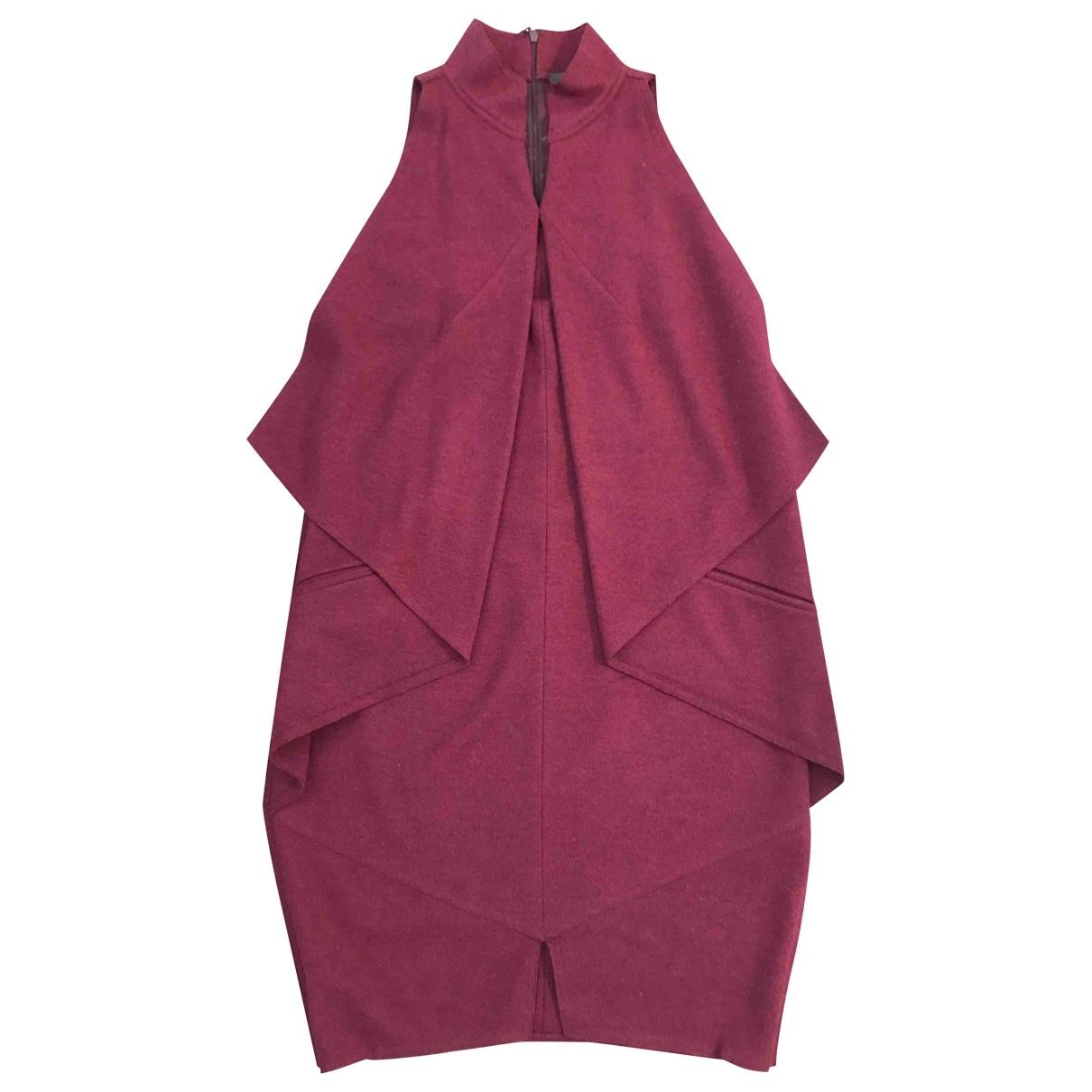 Fendi \N Burgundy Wool dress for Women 42 IT