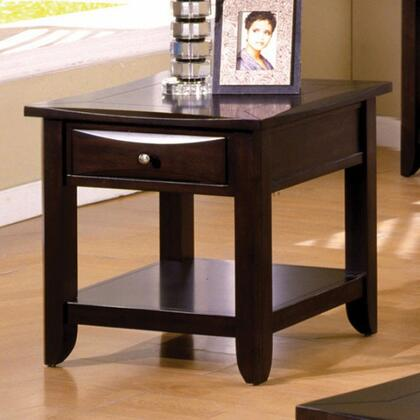 Baldwin Collection CM4265DK-E 24 End Table with Drawer  Open Bottom Shelf and Tapered Legs in