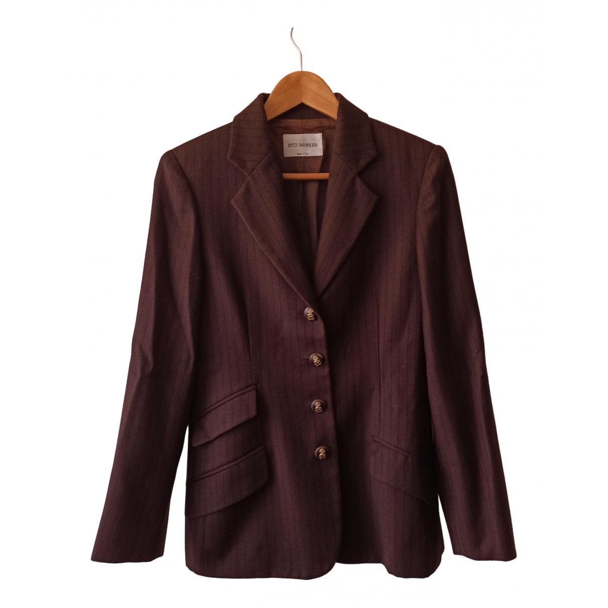 Ritz Saddler - Veste   pour femme en laine - marron
