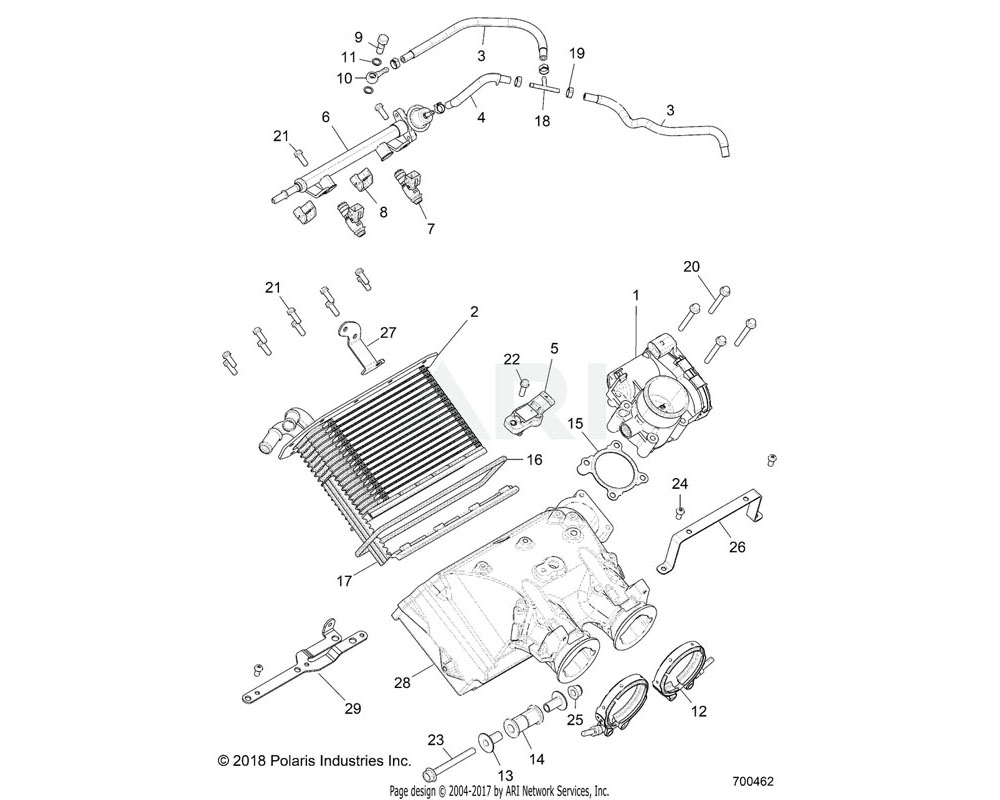 Polaris OEM 2521515 CLIP-INJECTOR, MM
