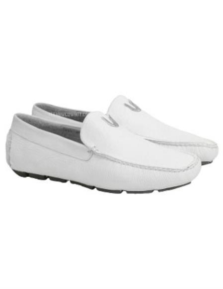 Men's White Vestigium Genuine Catshark Loafers