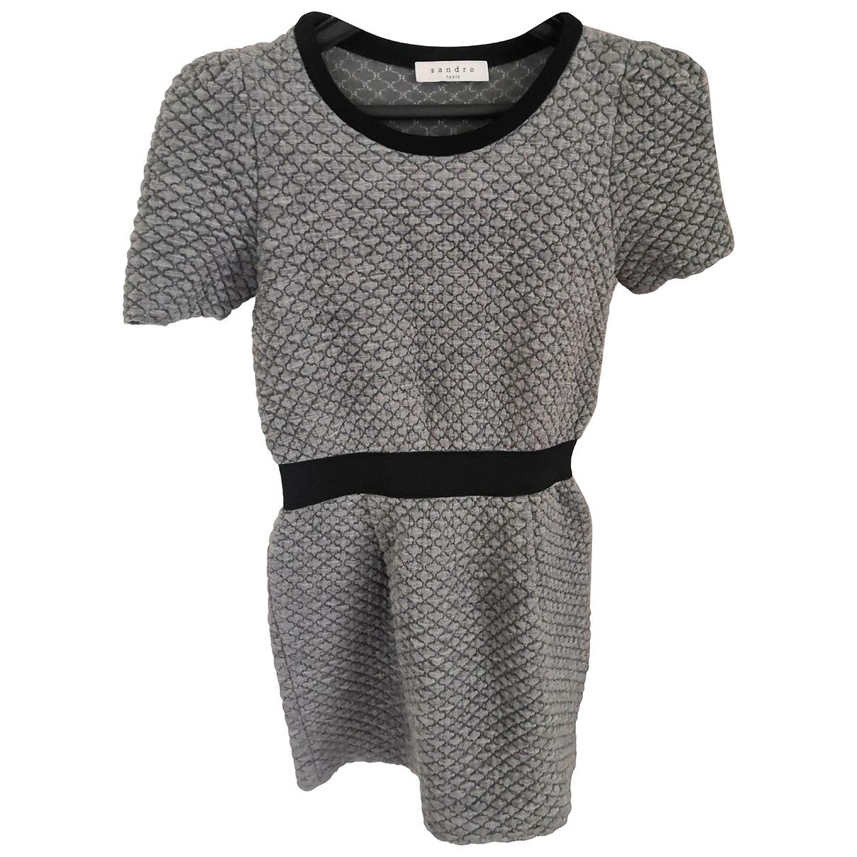 Sandro - Robe   pour femme - gris