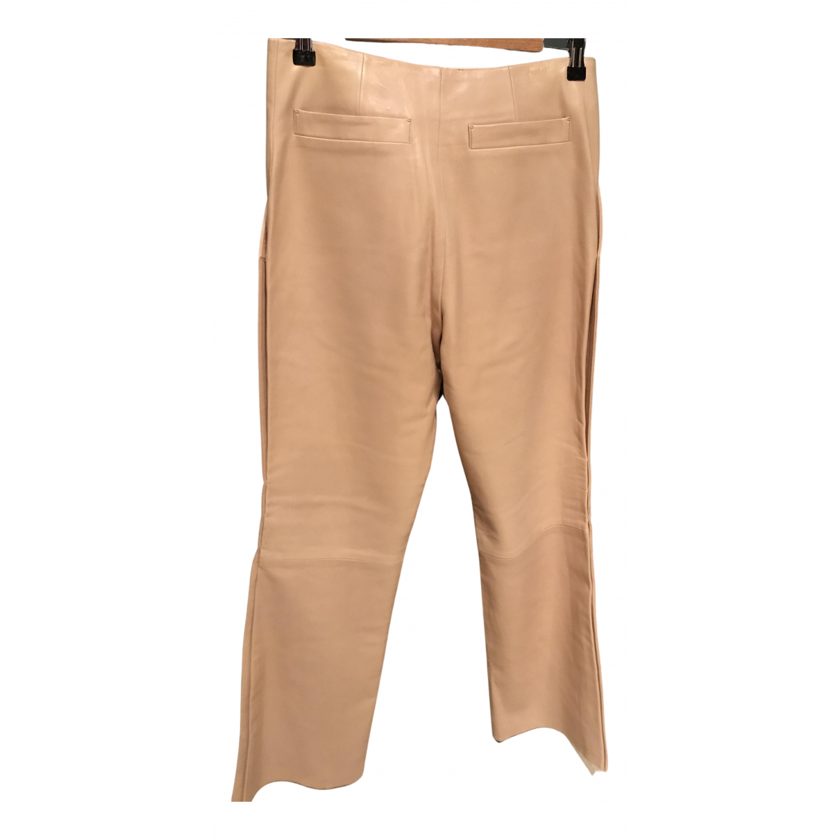 Louis Vuitton N Camel Leather Trousers for Women 40 FR