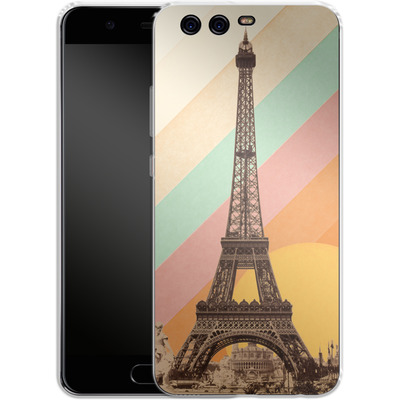 Huawei P10 Silikon Handyhuelle - Eiffel Tower Rainbow von Florent Bodart