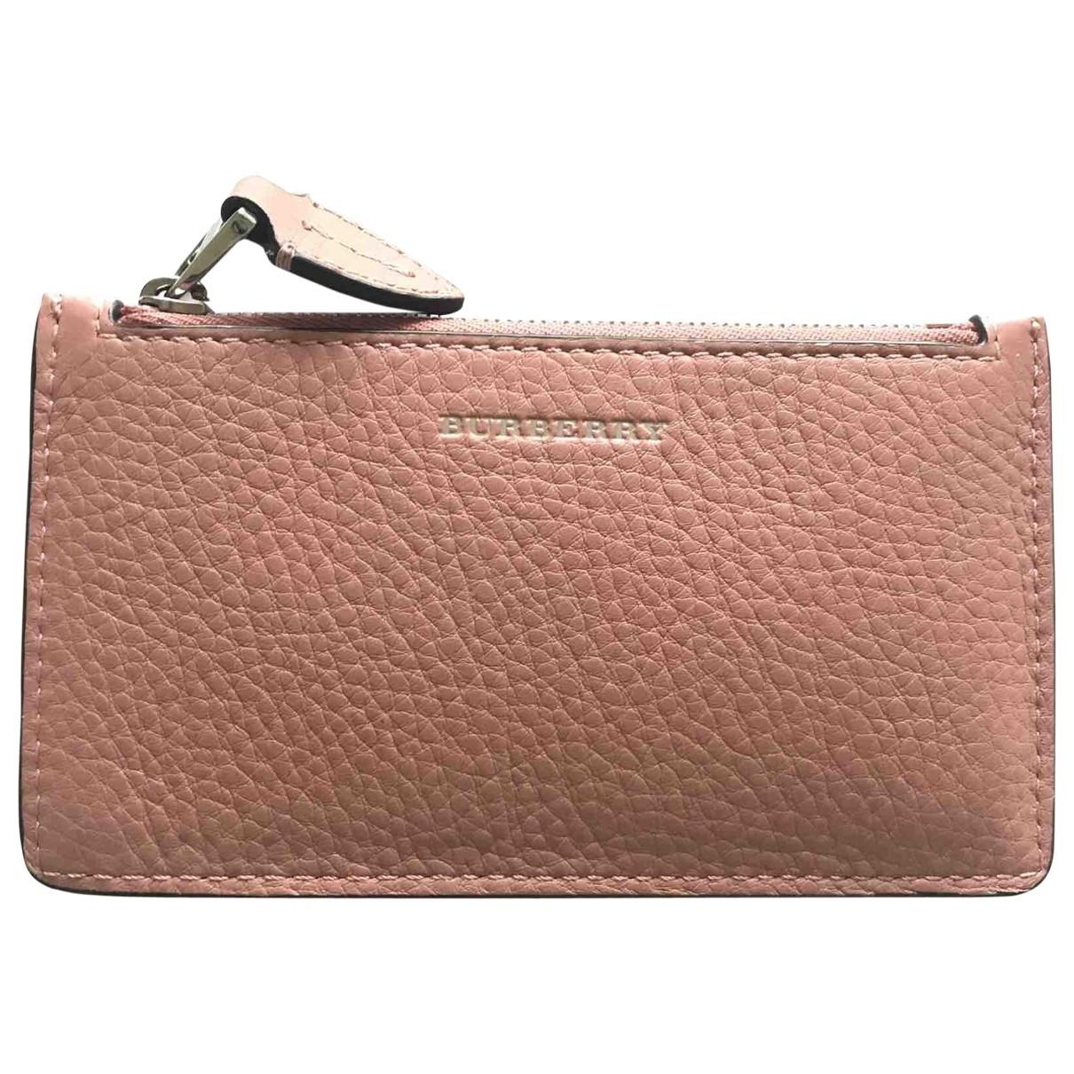Burberry - Petite maroquinerie   pour femme en cuir - rose