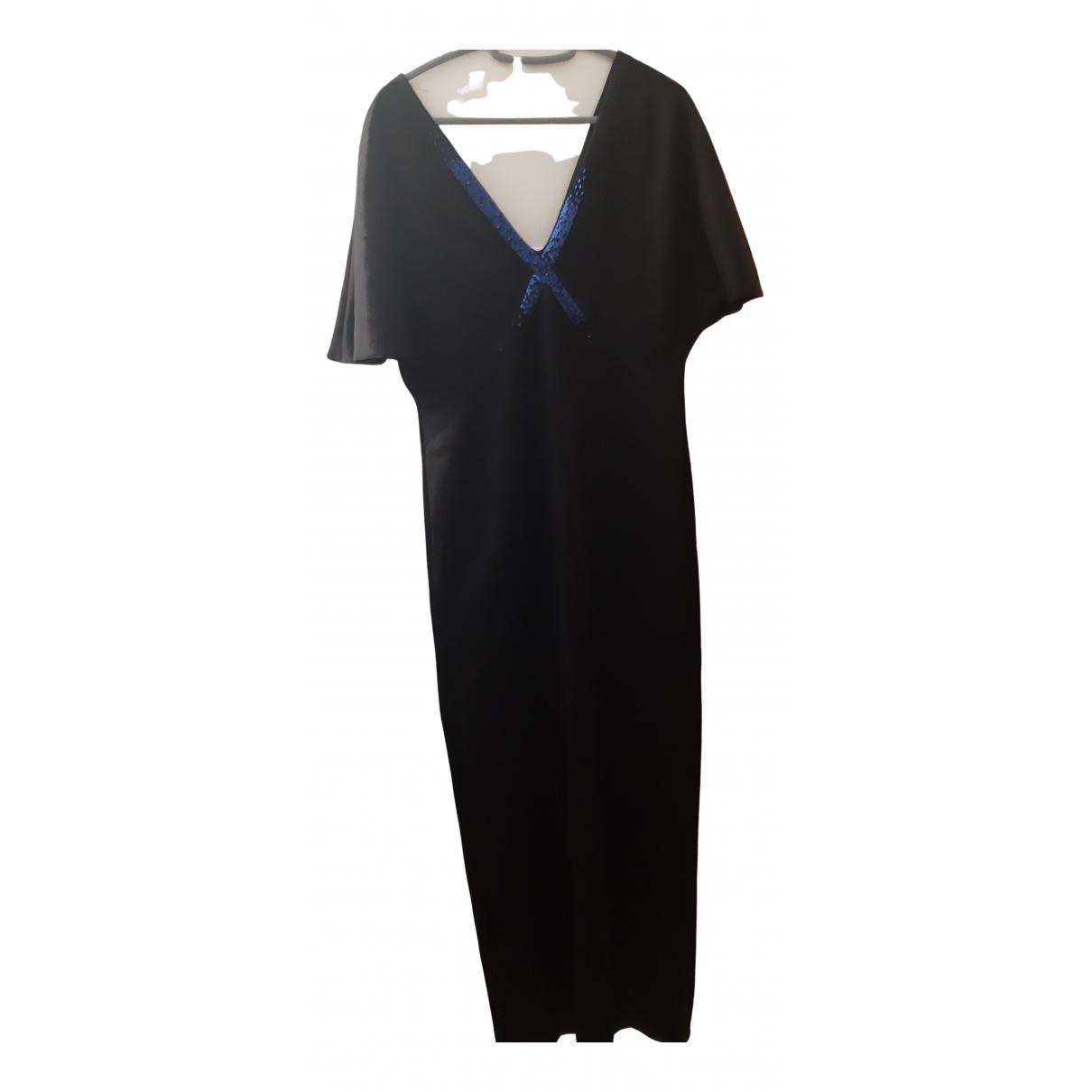 Lanvin \N Kleid in  Schwarz Baumwolle - Elasthan