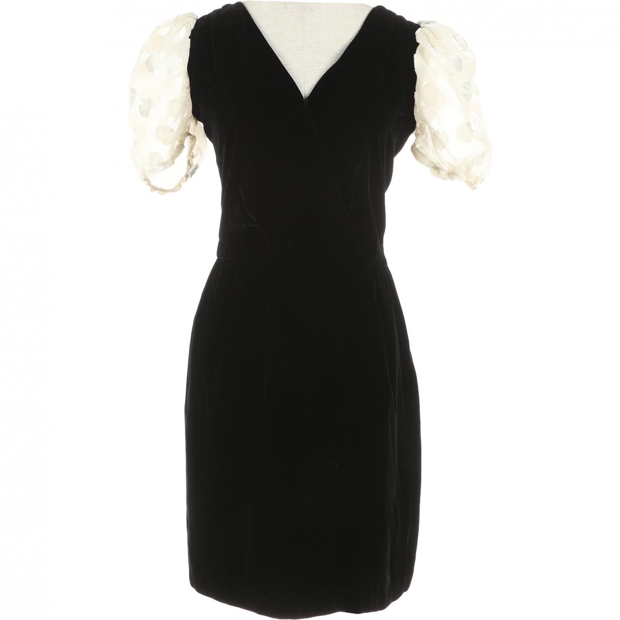 Valentino Garavani \N Black Velvet dress for Women 40 IT