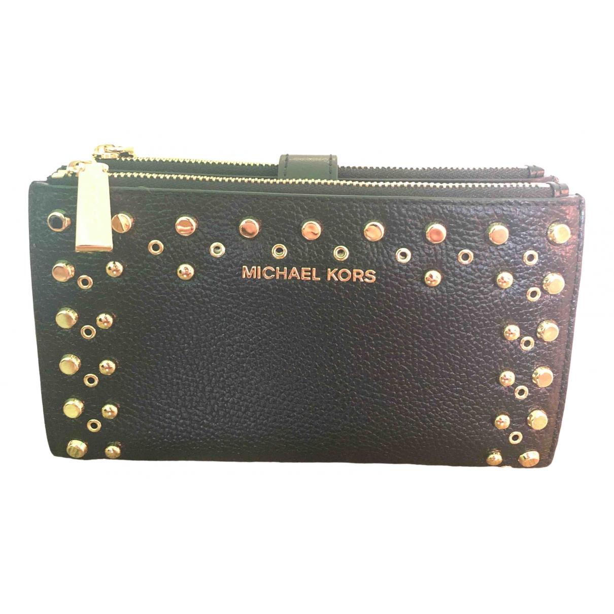 Michael Kors Jet Set Black Leather Purses, wallet & cases for Women \N