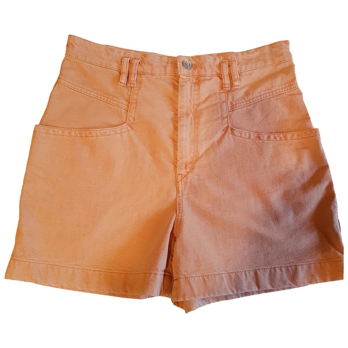 Isabel Marant \N Shorts in  Orange Baumwolle