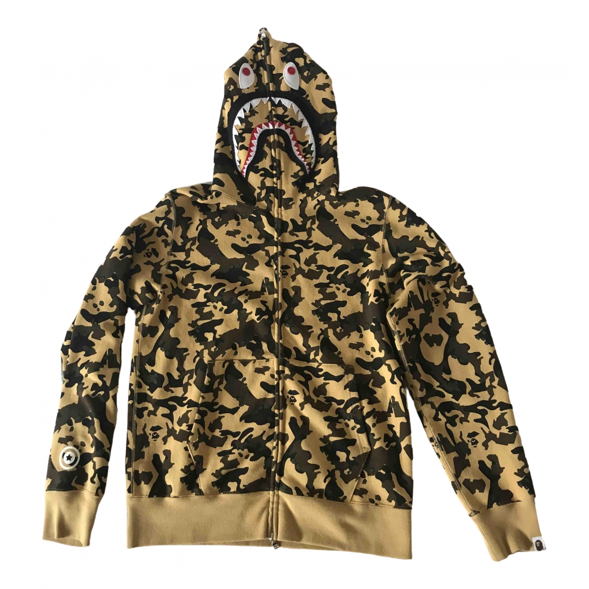 A Bathing Ape \N Pullover.Westen.Sweatshirts  in  Gelb Baumwolle