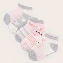 Calcetines de bebe con estampado de dibujos animados