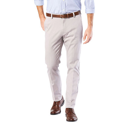 Dockers Men's Slim Fit Easy Khaki with Stretch Pants, 30 30, Gray