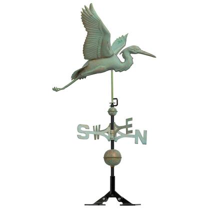45034 Copper Heron Weathervane -