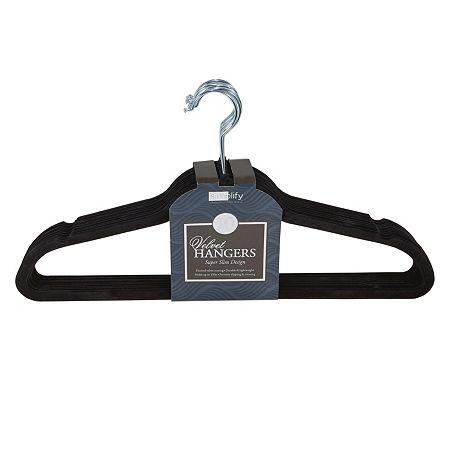 Huggable Basic Hangers 10-Pack, One Size , Black