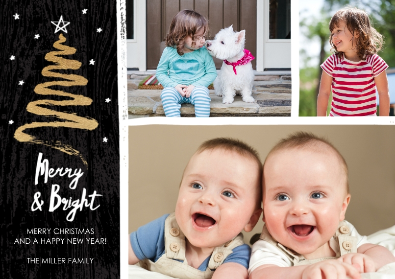Christmas Photo Cards 5x7 Cards, Premium Cardstock 120lb with Elegant Corners, Card & Stationery -Modern Pine