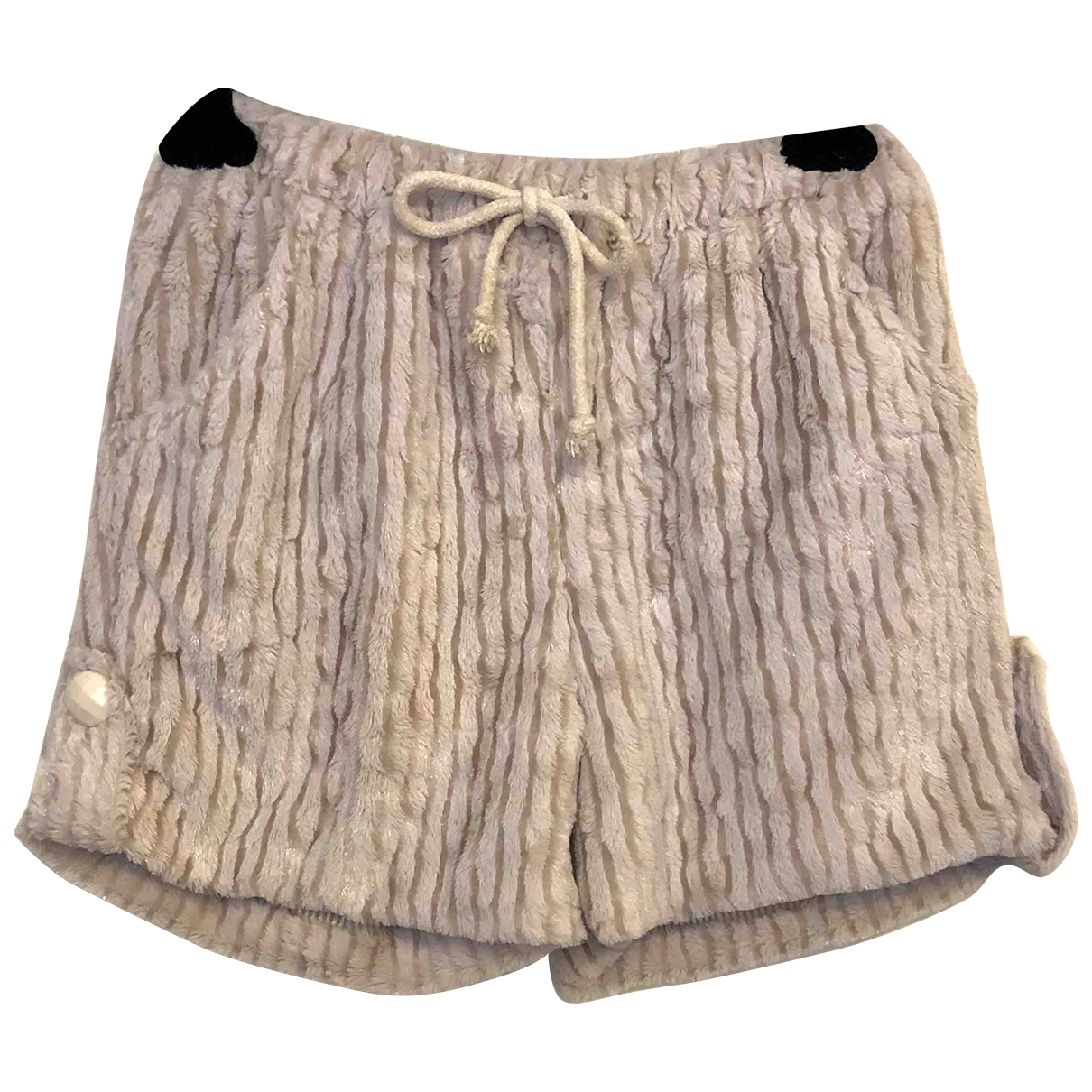 Non Signe / Unsigned \N Shorts in  Beige Synthetik