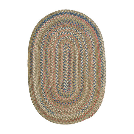 Colonial Mills Ashburn Reversible Braided Oval Rug, One Size , Green